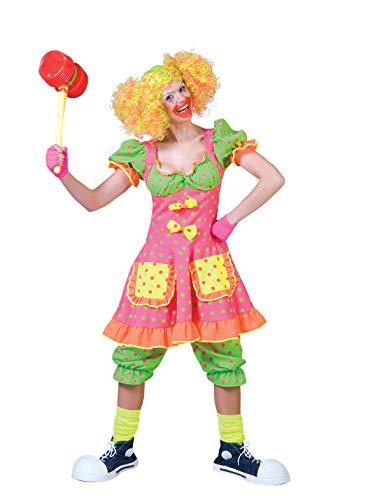 Funny Fashion Pierro´s Kostüm Clown Dame Pierina Größe ()