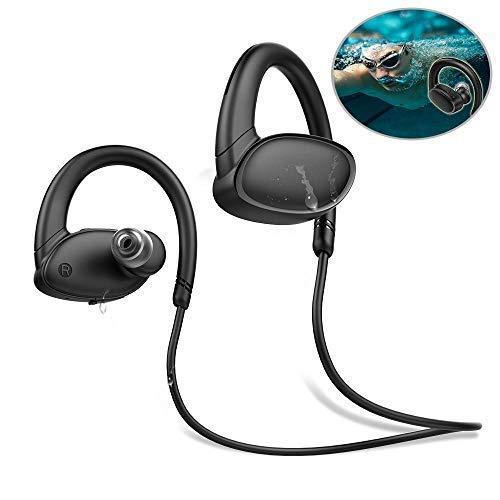 Teepao Manos Libres Bluetooth, X9 Auriculares Acuaticos Bluetooth 4.2, 6-8 Horas de Cascos Bluetooth Reproductor de Mp3 con 8 GB de Memoria, IPX7 para Natación, Running Carrera
