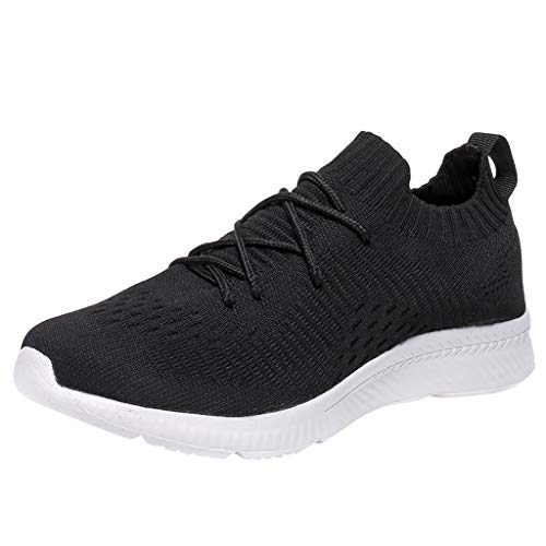 Kolylong® Paar Sneaker,Mesh Atmungsaktiv Laufschuhe Elastische Socks Bequem Sportschuhe zum Herren Damen Freizeitschuhe Unisex Gezeiten Schuhe rutschfeste Outdoorschuhe 36-46