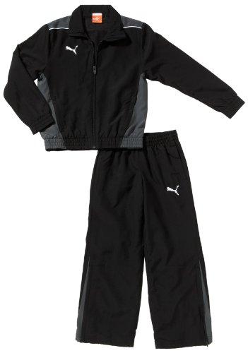 PUMA Kinder Trainingsanzug Foundation Woven Suit Präsentationsanzug, Black/Dark Shadow, 164 -