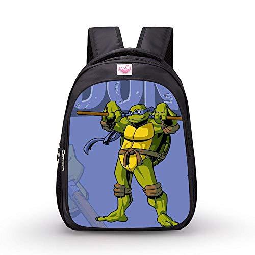 DWYRD Kinder Rucksack 3D Print Ninja Turtles wasserdichte Grundschule Bag Boy Book Bag B-M