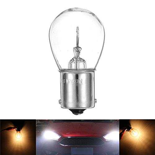 FATO. 1Pcs S25 1156 BA15S 1141 Auto-Halogen-Rückwärtsdrehung Singal Lichter Lampen-Birne 12V Gelb -
