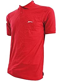 Slazenger - Polo -  - Manches courtes Homme Rouge Rouge