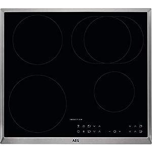 AEG – Placa de cocina (eléctrica, empotrada), 6 elementos de calor, 57,6 cm, función Hob²Hood, indicadores electrónicos…