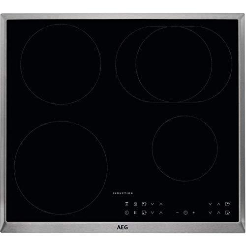 AEG Kochfeld (Elektro / Einbau) / 6 Heizelemente / 57.6 cm / Hob²Hood-Funktion / Elektronische Anzeigen für alle Kochzonen / Schwarz