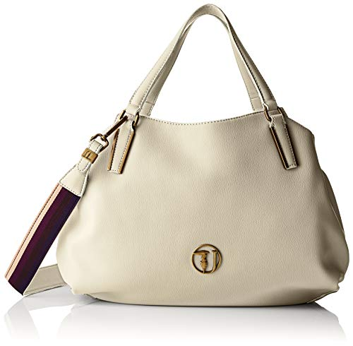 e04f111db3 Trussardi Jeans Rabarbaro Medium Tote Bag Borsa Donna, Bianco (Off/White)  39x20x13