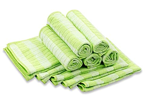 Respect microfibre bambou env. 30x 30cm, jeu de 10forets Torchons vert–L