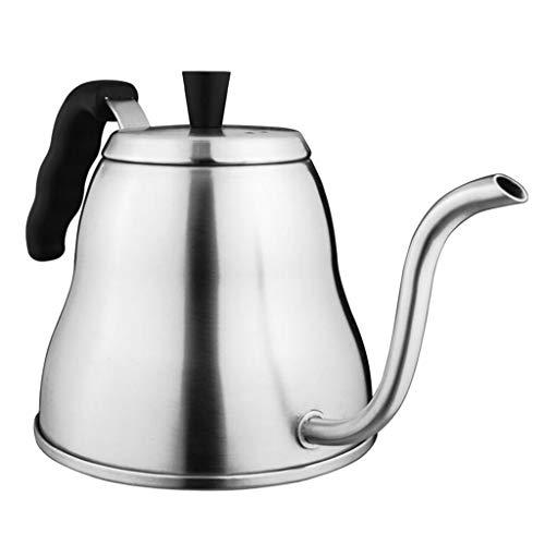 Baoblaze 1L Edelstahl Schwanenhals Wasserkocher Teekanne Kaffeekanne für Induktionsherd