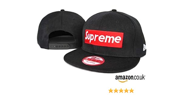 a481e9dd8fd supreme snapback new era (black)  Amazon.co.uk  Sports   Outdoors