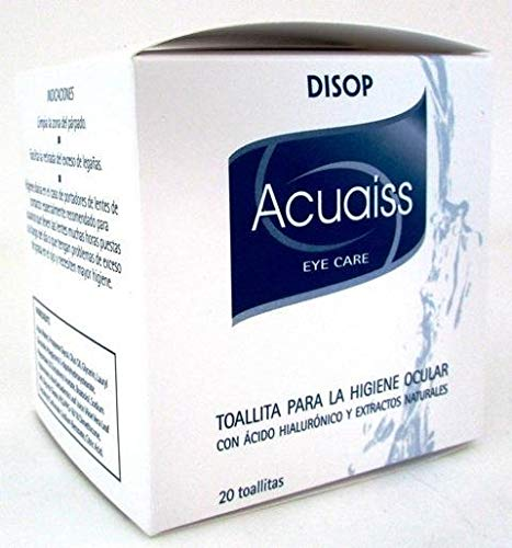 Acuaiss Toallitas para la higiene ocular con Acido Hialuronico. 20 Und.