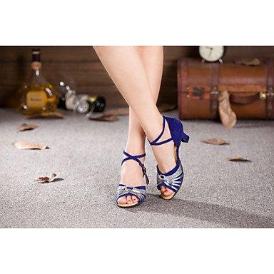 Scarpe da ballo - Non personalizzabile - Donna - Moderno - Tacco cubano - Vernice / Velluto / Paillettes / sintetico - Argento / Oro Gold