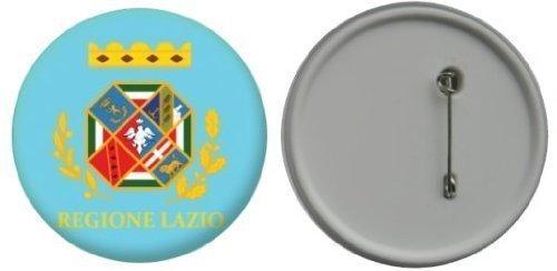 Miroir insigne de bouton Italie Lazio drapeau - 58mm