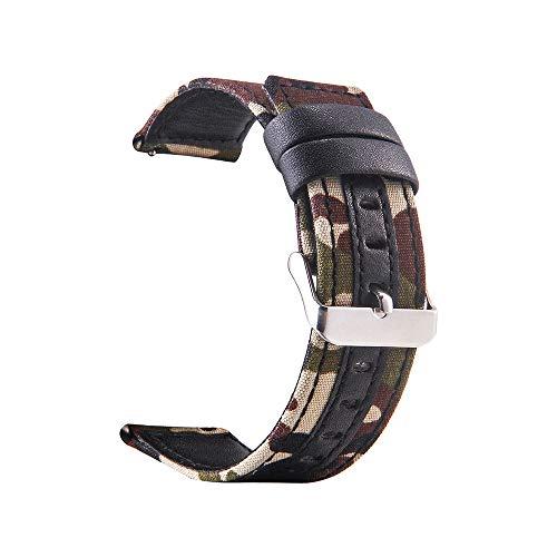 samLIKE Nylon Armband für Samsung Galaxy Watch 46mm für Herren und Damen Camouflage Ersatzarmband Sport-Stil Atmungsaktiv Einstellbar Band, 4 Farben, 75-195MM (A)