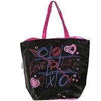 Russo Tessuti Borsa Spiaggia Mare Piscina Donna COVERI PVC Plastificata  Fuxia Tris Love 855a572e69a