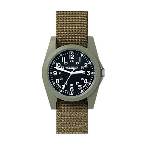 Bertucci 13362Unisex in policarbonato marrone nylon fascia quadrante nero smart watch