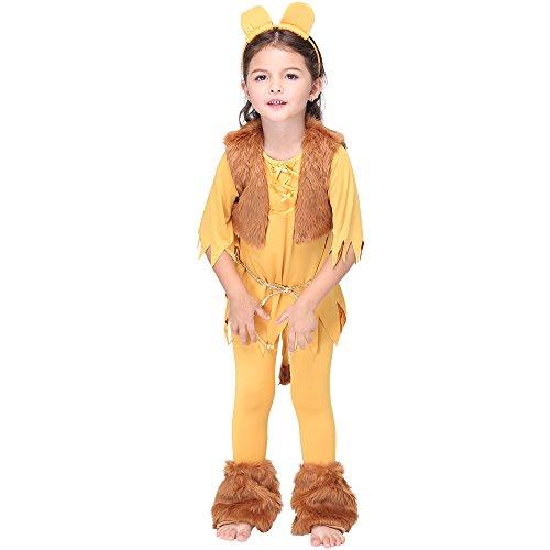 Uleade Kinder Kind Kleinkind Löwe Halloween Tier Kostüm (Löwe Kostüm Make Up)
