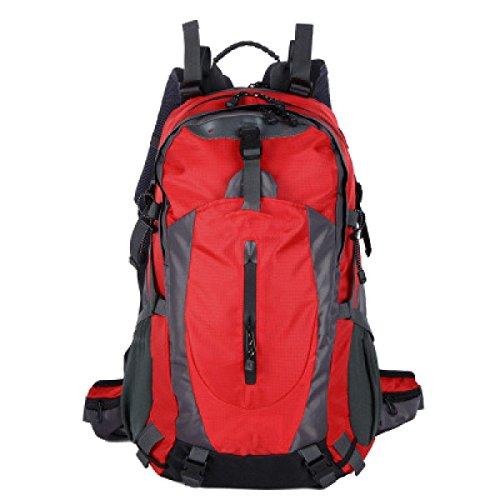 OGERT Esterna Viaggi Di Piacere Di Alpinismo Zaino Grande Capacità,Red Red
