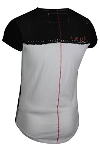 trueprodigy Casual Herren Marken T-Shirt mit Aufdruck, Oberteil cool und stylisch mit Rundhals (kurzarm & Slim Fit), Shirt für Männer bedruckt Farbe: Schwarz 1072144-2999 Black