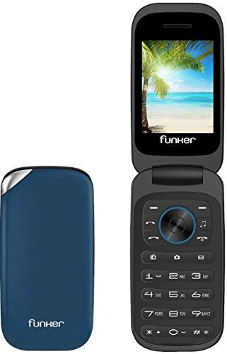 Foto de Funker F3 Azul Classic Flip Teléfono Móvil Libre Pantalla 2.4