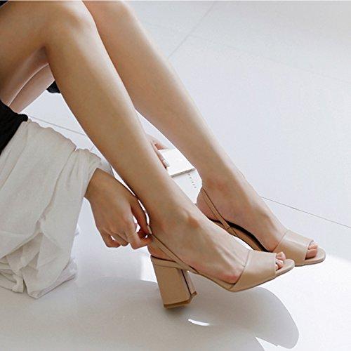 Con Della Semplice Tallone Talloni Sandali Scarpe Uniti Dei Romani Pesci Un Colore Bocca Shoeshaoge qt0Uv5