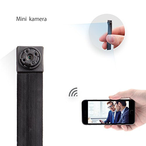 mini kamera FREDI HD 1080P Tragbare Wlan Netzwerk Klein IP Kamera mini Kamera P2P Kabellos mit Bewegungsmelder /Mikrofon/Videoaufzeichnung Überwachungskamera mit akku (Mini Hd überwachungskamera)