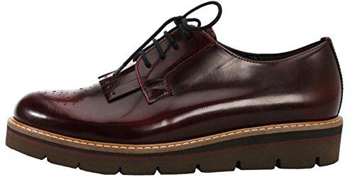 Gabor  51.474.75, Chaussures de ville à lacets pour femme Rouge