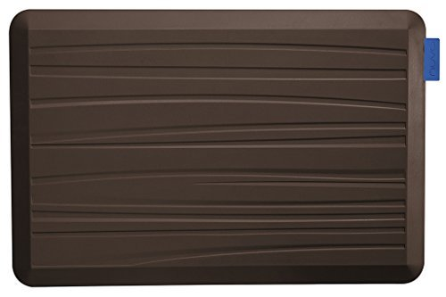 NUVA Kitchen Antislip Anti-fatigue Mats Antimicrobial >99.9%, Non-toxic Odor, Water Resistant, 30x20x0.75 inch., Various sizes & colors, Commercial Grade:10 years Warranty(Light Brown, Beach Pattern) by Nuva