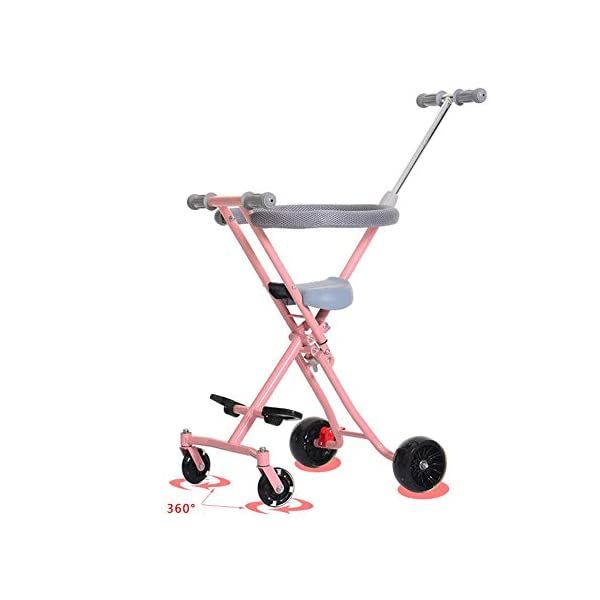 Children Stroller Trolley With Brake Baby Artifact 4 Round 1-3-4-5-6 Years Old Baby Out Baby Child Hand Folding Cart,b  1. Foldable design, easy to put into the trunk, making the journey easier. 2. Light and compact, for the mother to travel to reduce the burden! 3. 360° freely rotates the front wheel and rear wheel brakes. 3