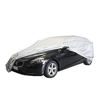 ballier Auto-Ganzgarage Autoabdeckung Platin - Größe XL (F) L482 x B180 x H144 cm – atmungsaktiv – leicht – wasserdicht – reißfest – lackschonend