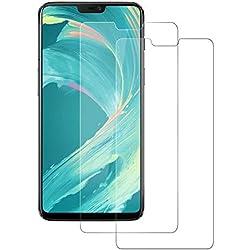 DOSNTO Cristal Templado para OnePlus 6, Protector Pantalla Glass Screen Protector for Oneplus 6, Vidrio Templado Transparente Compatible con 3D Touch, Borde 2,5D, Anti-Golpes Protector de Pantalla