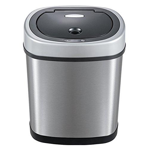 LF DD Smart Trash (DZT12-9) Home Sensor Automatische Flip Elektrischer Edelstahl Lagertank (Silber 12L Verpackung von - Kompost-elektrisch