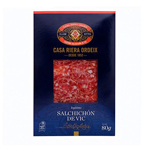 Spanische Edel-Salami Salchichon de Vic Extra Geschnitten 80 gr.