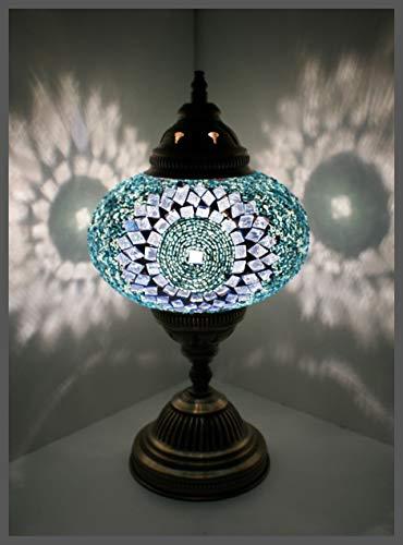 Mosaiklampe Mosaik - Tischlampe L Stehlampe orientalische lampe Türkis Samarkand-Lights