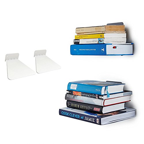 Ducomi® estantería Invisible para los Libros - Plataforma retráctil para la decoración...