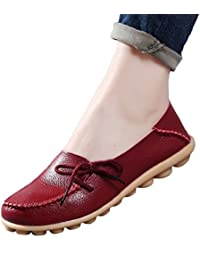 Yuncai Mode Klassisch Damen Erbsen Schuhe Freizeit Atmungsaktiv Bootsschuhe Flache Violett 40 Vnl4zWKtl