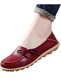 Yuncai Mode Klassisch Damen Erbsen Schuhe Freizeit Atmungsaktiv Bootsschuhe Flache Violett 40