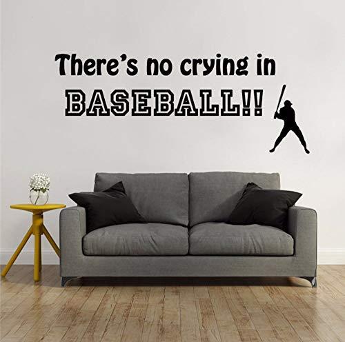 too Es gibt kein Weinen in Baseball Zitat Wandaufkleber Vinyl Buchstaben Aufkleber Baseball Wand Kunst Wandbilder Dekor 57x22 cm ()