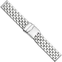 Uhrbanddealer 22mm Ersatzband Uhrenarmband Uhrenbänder Uhrenarmbänder Massiv Band Edelstahl 411822