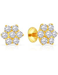 Malabar Gold and Diamonds 22KT Yellow Gold Stud Earrings for Women