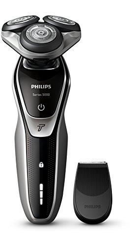 Philips S5320/06 Serie 5000 - Rasoio Elettrico con Lame Multiprecision, Testina Flex 5 Direzioni e Modalità Turbo + Rifinitore Precisione