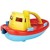 Green Toys Tugboat (Yellow Handle) - Bath and Water Toys