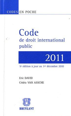 Code de droit international public 2011