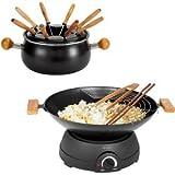 Set 2 in 1, multifunzione, wok e Fonduta elettrica