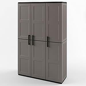 kunststoffschrank werkzeugschrank putzmittel schrank kunststoff 163x102 cm grau baumarkt. Black Bedroom Furniture Sets. Home Design Ideas