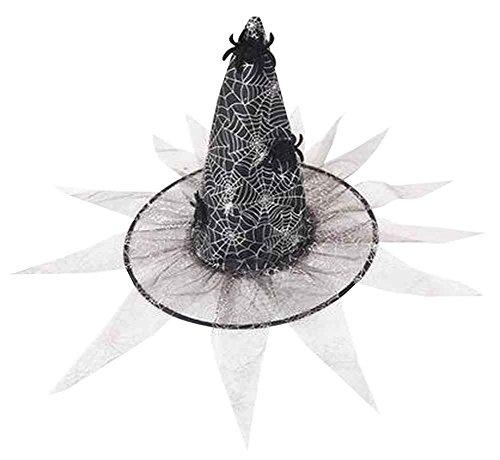 Set von 4 Halloween Kappen Kreative Hexe Kappen Spinnen Hüte [Silber]