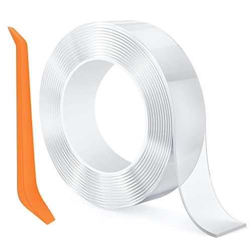 Chesbung multifunzione nano tape nastro biadesivo tape, trasparente nano nessuna traccia può essere lavato nastro adesivo può essere riutilizzato, anti scivolo pads utensili da cucina (3m)