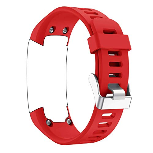 Haotop Soft Silicone Sport Strap Bands Compatible for Garmin Vivosmart HR Watch(Watch Not Included) (Red)
