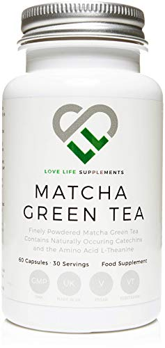 "LLS Japanese Matcha Green Tea | Powerful Anti-Oxidant Which Protects The Cells From Oxidative Stress | No Bulking Agents - Only Pure Matcha | 60 Capsules | Produced in the UK Under GMP Certification - ""Live Healthy, Love Life!"""
