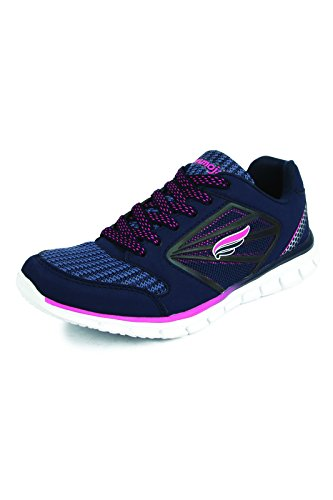 Mmojah Women Energy-31 SKY BLUE/FL.GREEN Running Sports Shoes-7  available at amazon for Rs.599