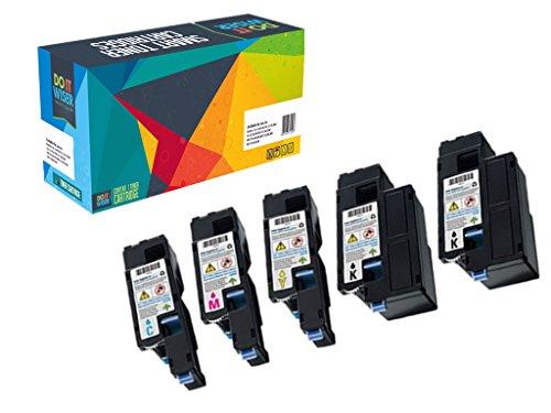 Do it Wiser ® 5 Kompatibel Toner für Dell C1765nfw C1765nf C1760cnw 1250c 1250 1350cnw 1355cn 1355cnw | 593-11016 593-11021 593-11018 593-11019 (hohe Kapazität) (Teilenummer Dell Original)